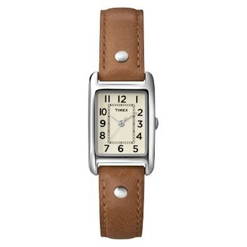 Women's Timex® Leather Watch - Brown