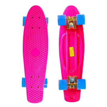 "22"" Complete Plastic Penny Style Street Classic Skateboard - Pink"