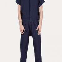 JUMPSUIT-4 Sleeveless Jumpsuit in Indigo - SS15 Jan-Jan Van Essche