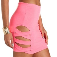 Caged Side Body-Con Skirt: Charlotte Russe