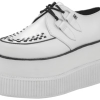 White Leather Double Double Creepers