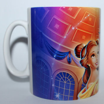 Custom Printed Disney Beauty and the Beast Mug / Mugs perfect for a gift kids school Kitchen Office Studio Cup