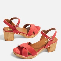 Two Cross Strappy Sandals