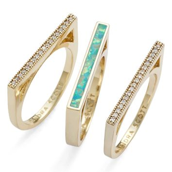 Kendra Scott 'Lucia' Stackable Rings (Set of 3) | Nordstrom