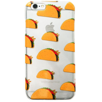 Clear Multicolor Tacos junk food iPhone 6S/ 6 case