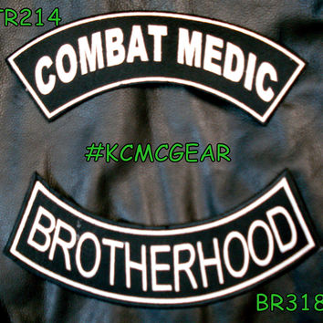 Combat Medic Brotherhood Embroidered Patches Sew on Patches for Jackets Military Patch Set