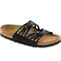 Birkenstock Women's Granada Soft Foot Bed Black Oil Sandal (N)