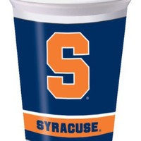 Creative Converting Syracuse Orange Printed Plastic 20 oz. Cups (8 Count)