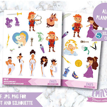 COD07-50% OFF SALE!! Hercules Stickers/princess Stickers/disney Planner Stickers/decorative stickers/disney stickers/hercules stickers