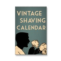 Vintage Antique Shaving Modern Men Ads Colorful Calendar from Zazzle.com