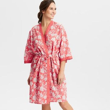 Coral Floral Adele Robe