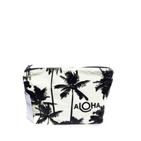Small black Coco Palms splash-proof pouch