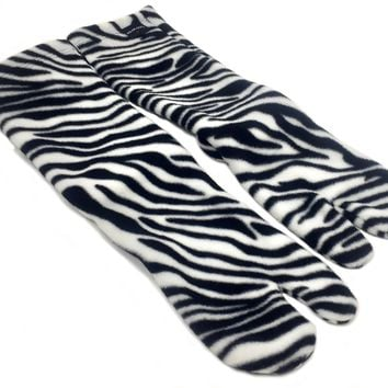 Polar Feet® Fleece Tabi Socks - Zebra