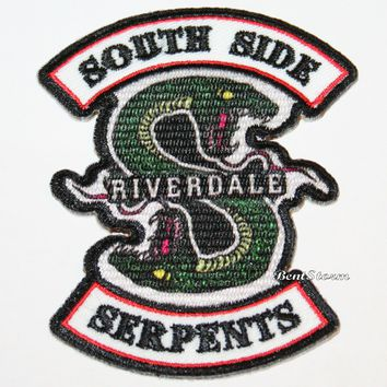 Licensed cool Licensed Riverdale SouthSide Serpents IRON ON Patch Badge for jacket or hoodie