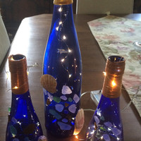 Recycled Wine Bottle Decorations