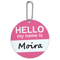 Moira Hello My Name Is Round ID Card Luggage Tag