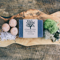 Charcoal Natural Soap with Pumice