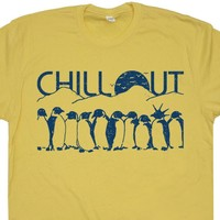 Chill Out Penguin T Shirt Funny Penguin T Shirt Cool Penguin T Shirt