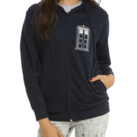 Doctor Who Bad Wolf Girls Zip Hoodie