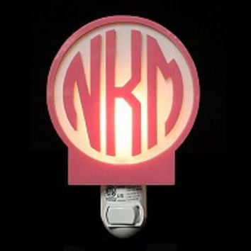 Monogrammed Circle Nightlight