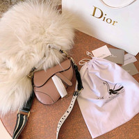 DIOR Leather Saddle Bag