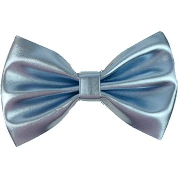 Metallic Faux Leather Hair Bow, Blue