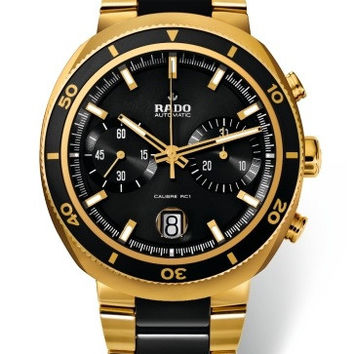 Rado  D-Star 200 Men's Black Dial  Chronograph Date Watch R15967162