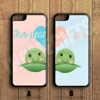 Two peas in a pod Couple Case,Custom Case,iPhone 6+/6/5/5S/5C/4S/4