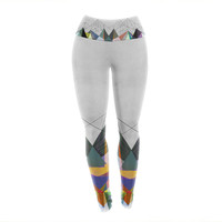 "Mareike Boehmer ""Colorflash 3X"" Grey Rainbow Yoga Leggings"