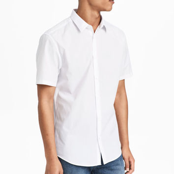 Easy-iron Shirt Slim fit - White - Men | H&M US