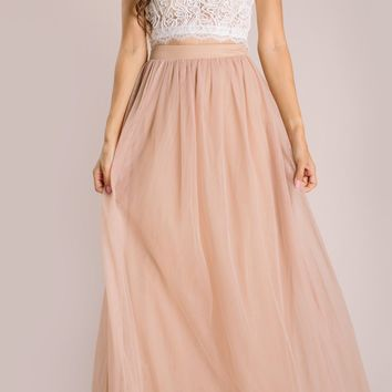 Anabelle Tulle Maxi Skirt
