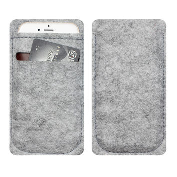 phone bag For iPhone 5 6 4.7 inch case For iPhone 5 6 4.7 inch bags mobile phone bags cases Case Cover Wool Felt Wallet