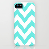 TEAL CHEVRON iPhone Case by nataliesales | Society6