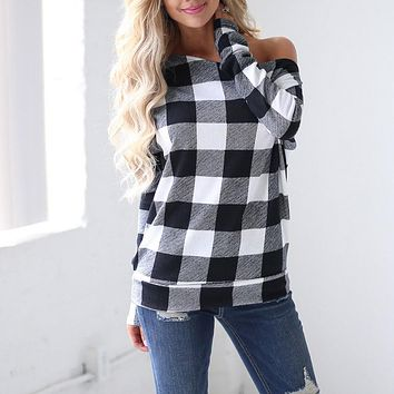 Women Cold Shoulder Long Sleeve Sweatshirt