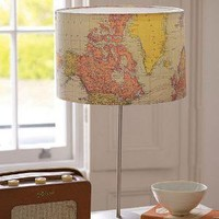 handmade vintage map lampshade by the old lamp shed | notonthehighstreet.com