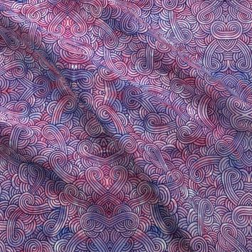 Purple swirls doodles fabric - savousepate - Spoonflower