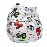 Baby Cloth Diaper Reusable Pocket Nappies Washable Modern Cloth Nappy Diaper Cover Suit