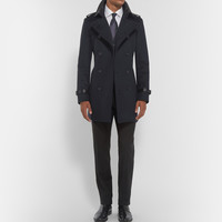 Burberry London - Leather-Trimmed Wool and Cashmere-Blend Trench Coat | MR PORTER