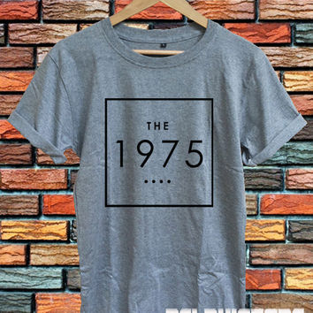the 1975 shirt the 1975 band t-shirt sport grey printed unisex size (DL-68)
