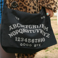 Glow-In-The-Dark Ouija Board Purse - Square Bottom Bag
