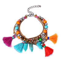 New Arrival Great Deal Shiny Stylish Awesome Hot Sale Gift Vintage Bohemia Handcrafts Tassels Bracelet [6047516161]