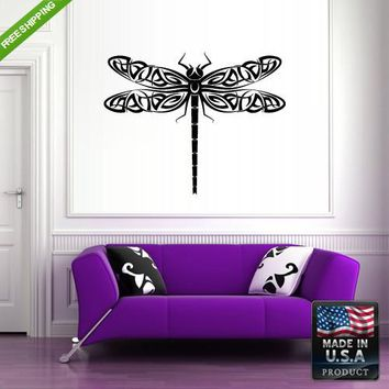 Wall Vinyl Decal Decal Sticker Beautiful Cute Dragonfly Animals Bedroom  z141