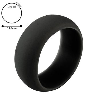 1PC Silicone Wedding Band Engagement Ring Hypoallergenic Mens s Jewelry
