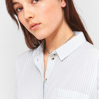 Urban Outfitters Striped '80s Cropped Button-Down Shirt | Urban Outfitters