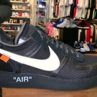 """Air Force 1 Low Off- White """"Black"""" Brand New"""