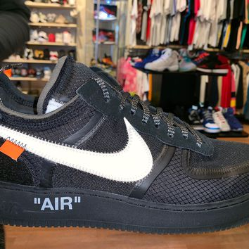 "Air Force 1 Low Off- White ""Black"" Brand New"