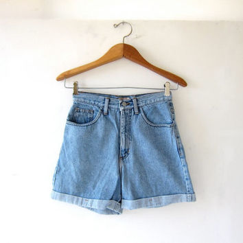 vintage denim shorts / Guess jean shorts / high waist denim shorts