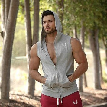 Running Vests Jogging 2018 Mens  Compress Sleeveless T Shirt Spandex Fitness Athletic Gym Running T-Shirts KO_11_1