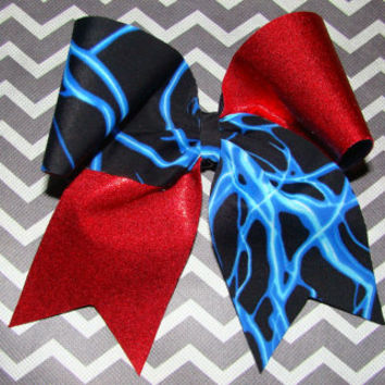 Blue Lightening and Red Mystic Criss Cross Cheer by isparklethat