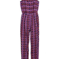 Tribal Print Jumpsuit (Kids)